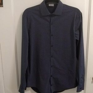 Kenneth Cole Reaction Slim Fit Navy Dress Shirt